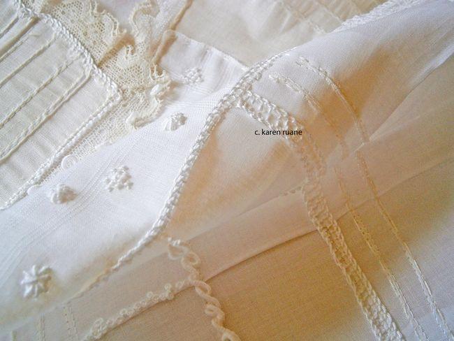 cross stitch, web stitch and buttonhole edges