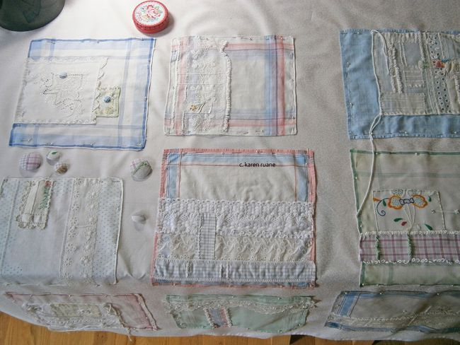 coming together, the hankie cloth....