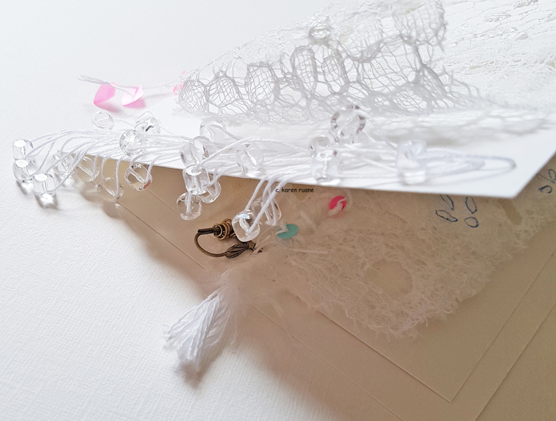Beaded edge  fastening pages