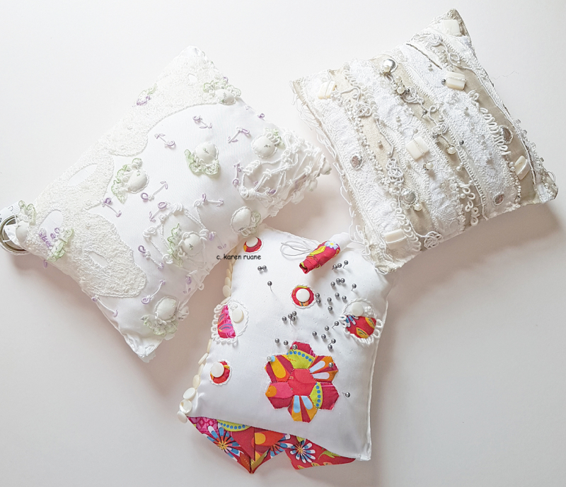 Three pin pillows