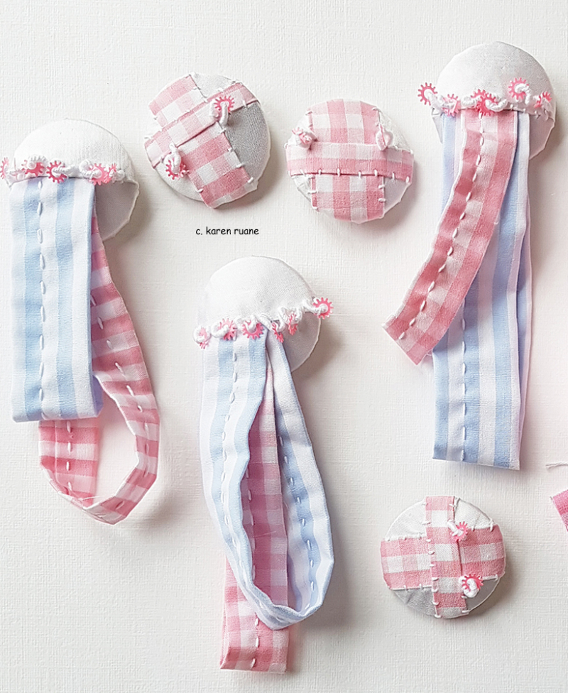 Silk and gingham buttons