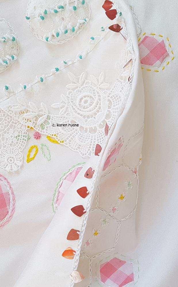 Embroidered  sequin egde 4