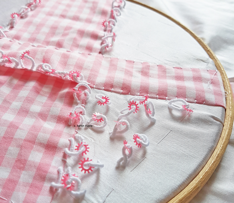Gingham pin pillow 1