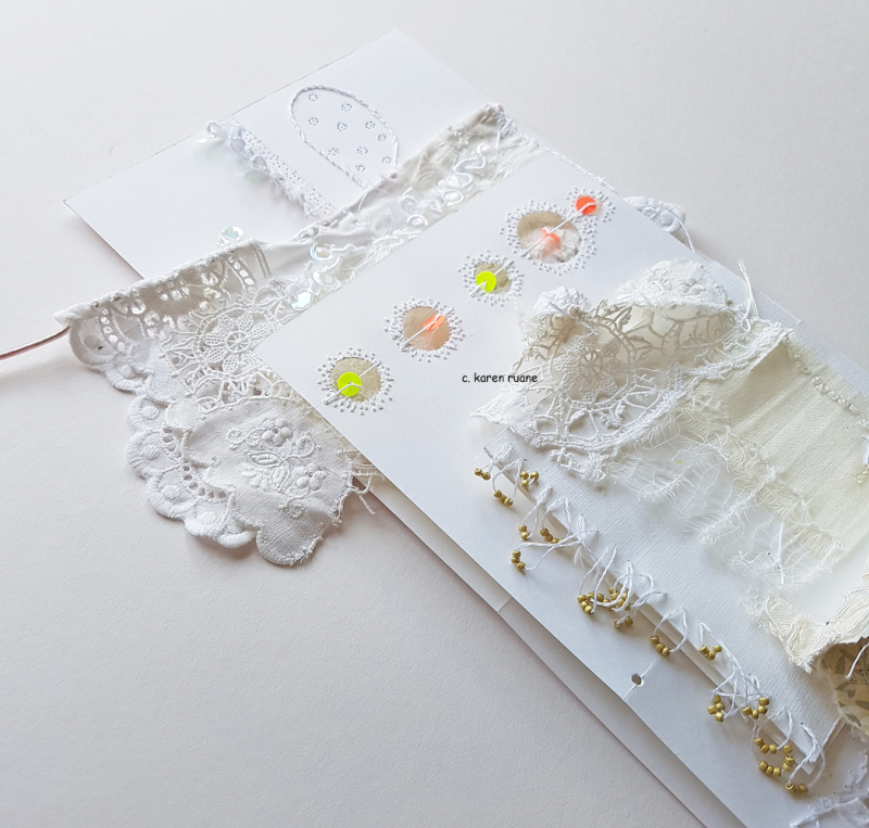 Bullions and sequins on a page 3