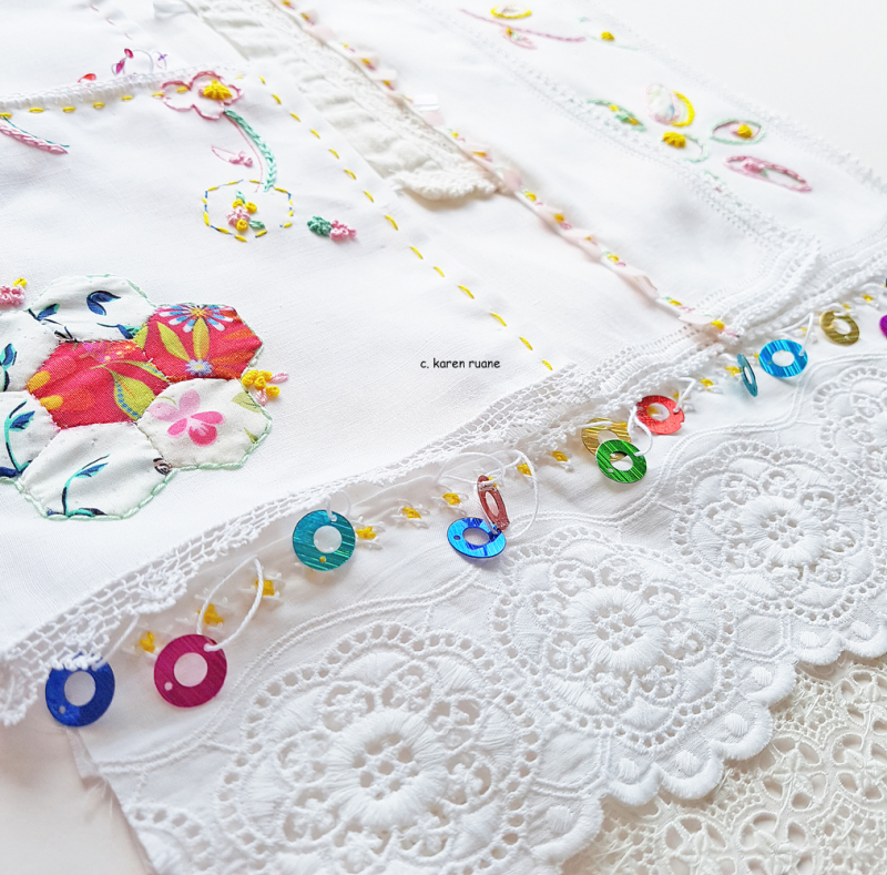 Embroidered hankie 14