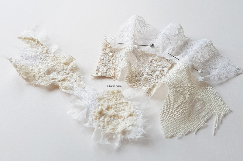 Paper  lace and silk